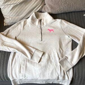 Mock neck zip sweatshirt